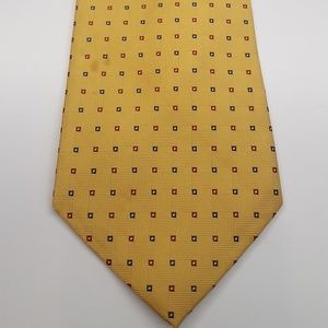 Brooks Brothers Silk Gold Mens Tie